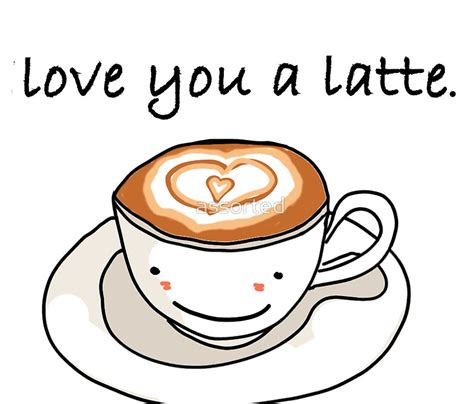 """""""""""love you a latte"""" visual pun design"""" Travel Mugs by assorted   Redbubble"""