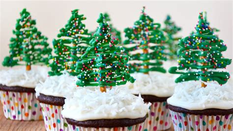 easy christmas tree cupcake toppers youtube