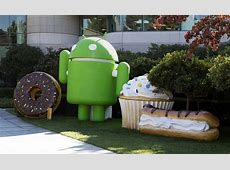 Google Android mascots Google Android robot with his