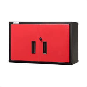 red and black garage cabinets red wall cabinet geneva 301922 wc30192 bk rd
