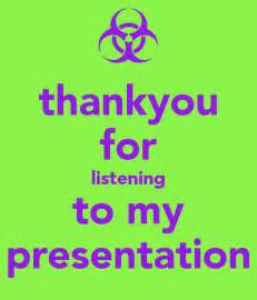 Thank You for Listening My Presentation