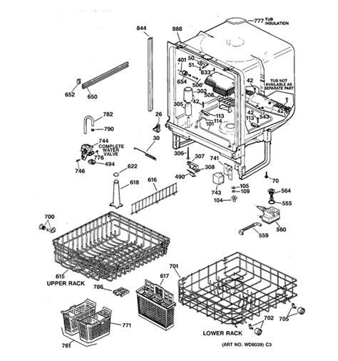 ge monogram dishwasher parts manual