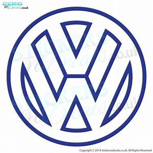 VW Logo outline decal Car Sticker Wall Sticker Vinyl Decal