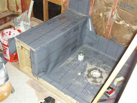 building shower pan bathroom remodel
