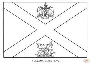 Flag Of Alabama Coloring Page Free Printable Coloring Pages
