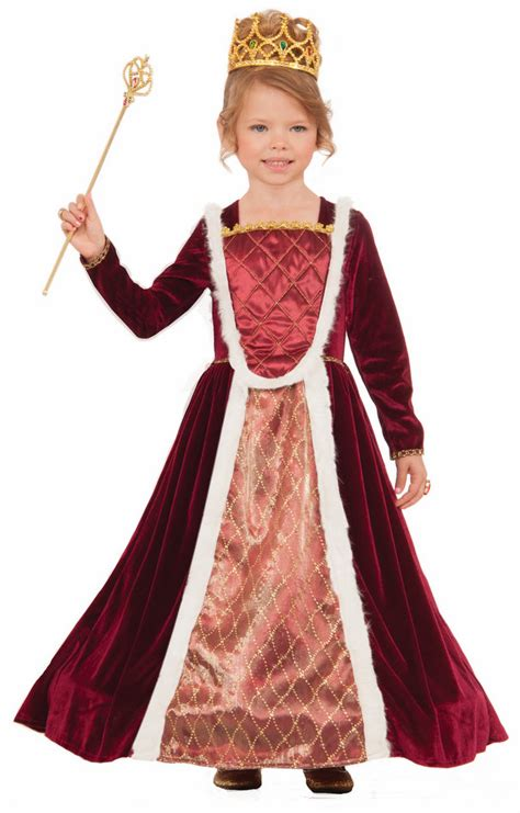 Childu0026#39;s Designer Royal Medieval Queen Costume - Candy Apple Costumes - Kidsu0026#39; Renaissance Costumes