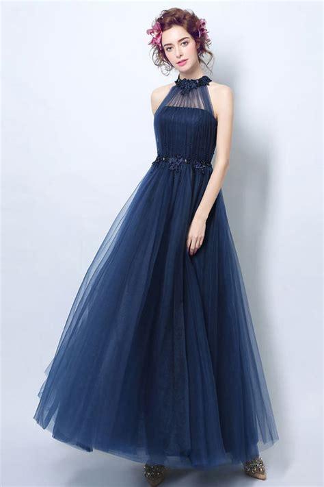 robe bleu marine mariage mi longue robe c 233 r 233 monie mariage bleu marine longue encolure