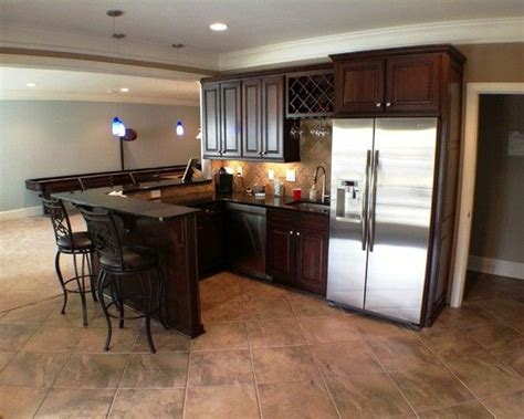 flooring for kitchen basement design traditional basement bar kitchen with 3455