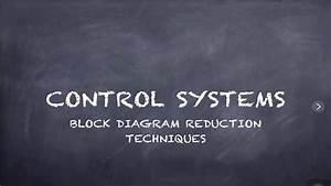 Block Diagram Reduction Techniques