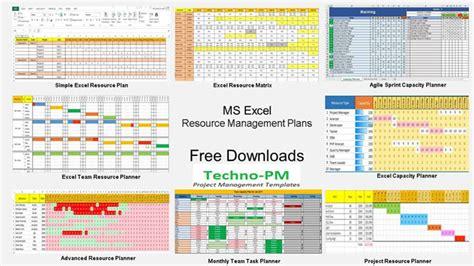 resource management templates  team resource