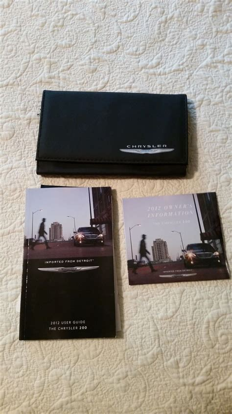 2012 Chrysler 200 Manual by 2012 Chrysler 200 Owners Manual Book Nonfiction