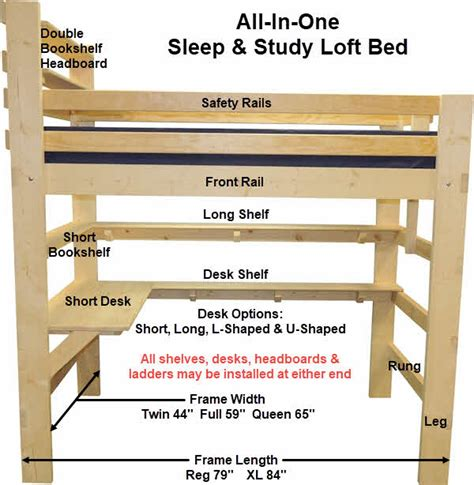 loft bed plans bunk beds plans ready  assemble kits