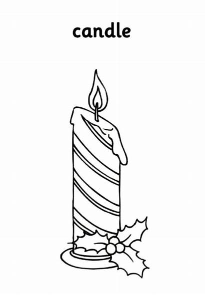 Candle Coloring Christmas Pages Horizontal Stripe Candles