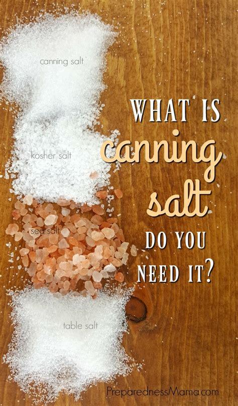 canning salt      preparednessmama