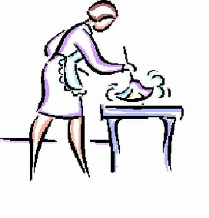 Cleaning Dust Clipart Lady Clip Furniture Cliparts