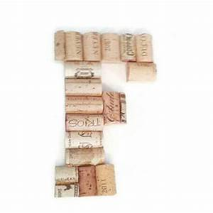 Wine cork letter f monogram letter wine cork crafts for Monogram wine cork holder letter f