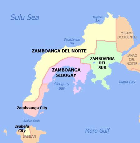 zamboanga peninsula map zamboanga peninsula region map
