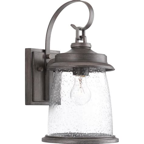 progress lighting conover collection 1 light pewter 16 in outdoor wall lantern sconce