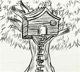 Coloring Treehouse Sketch sketch template