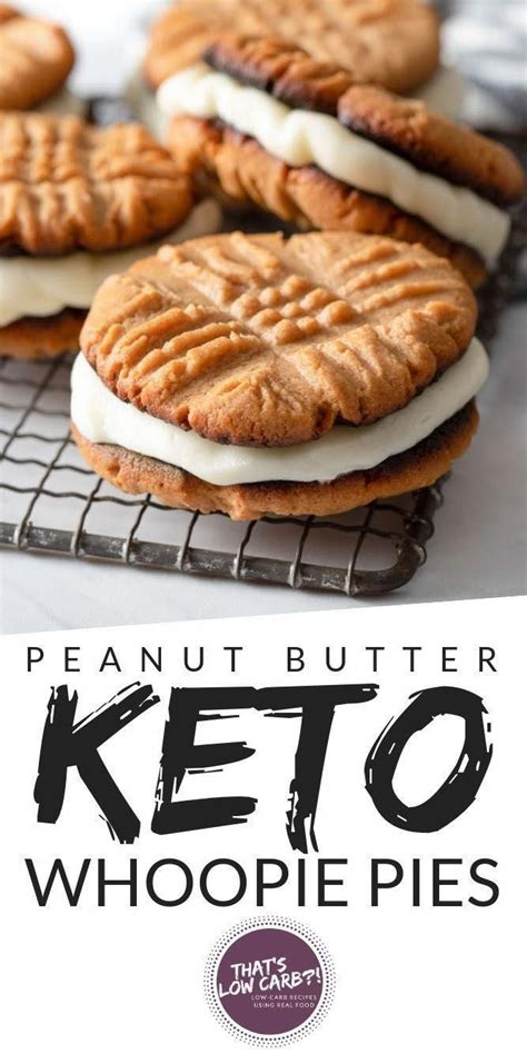 Sift flour, baking powder and salt together. Low Carb Peanut Butter Whoopie Pies are your childhood dreams come true. Let's make some delic ...