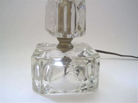 clear glass bedside table bedside l vintage bedroom 1940s cube clear glass