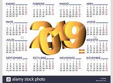 Calendario 2019 2019 elegant calendar in spanish Year
