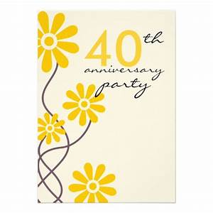 trendy flowers 40th wedding anniversary party 5x7 paper With 40th wedding anniversary flowers