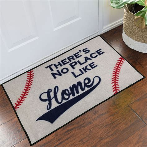 Baseball Doormat by Baseball No Place Like Home Welcome Mat 2 X 3