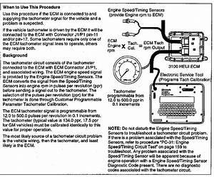 3100 Heui Troubleshooting Tachometer Circuit Test