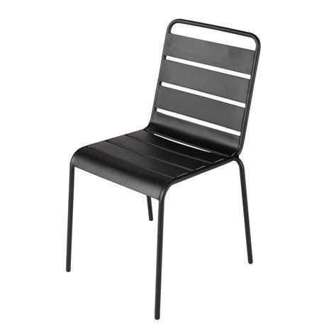 metal garden chair in black batignoles maisons du monde