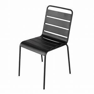 Chaise De Jardin Metal : chaise de jardin en m tal noire batignolles maisons du monde ~ Dailycaller-alerts.com Idées de Décoration