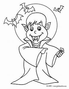 Dessin Halloween Vampire : coloriages coloriage gratuit vampire ~ Carolinahurricanesstore.com Idées de Décoration