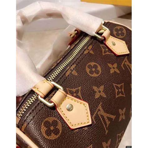 louis vuitton lv women nano speedy bag  monogram coated