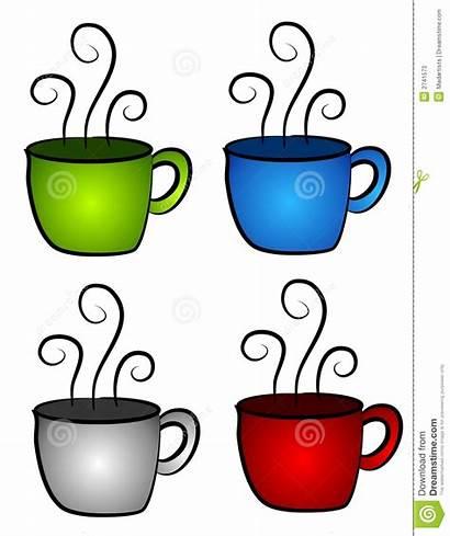Tea Cups Coffee Clipart Teacup Four Steam