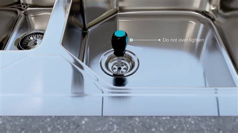 installing a kitchen sink strainer how to install or replace a basket strainer sink waste in 7537