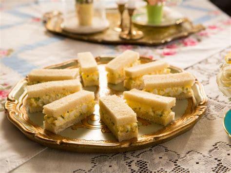 truffled egg salad tea sandwiches recipe food network