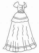 Coloring Pages Princess Dresses Barbie Fancy Getcoloringpages Drawing sketch template