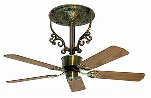 Americana ceiling fan, antique brass, short, 2 388,00