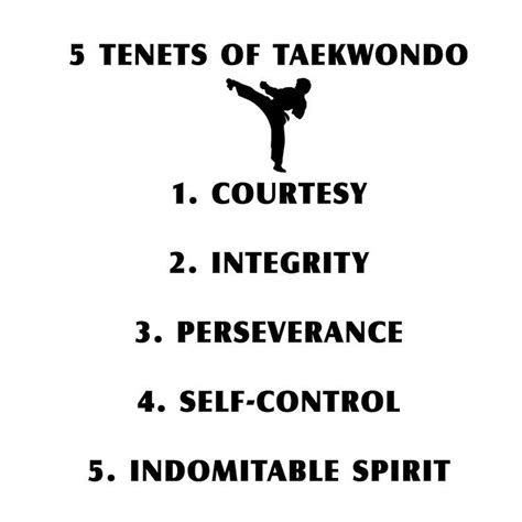 It usually refers to a philosophy or a religion, but it doesn't have to — for instance, eastern medicine has different tenets from western medicine. 5 Tenets of Taekwondo | BalliGifts Blog