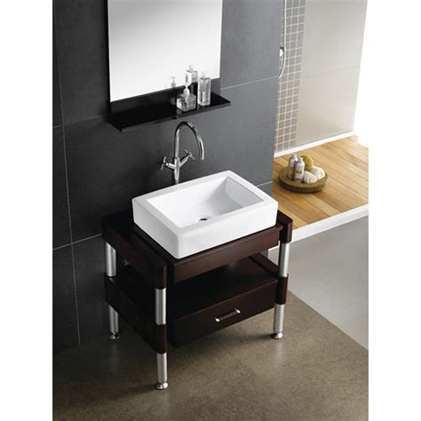 Renovators supply small vanity sink for bathroom white, dark oak cabinet, faucet and drain. Shop White Vitreous China 18-inch Vessel Bathroom Sink ...