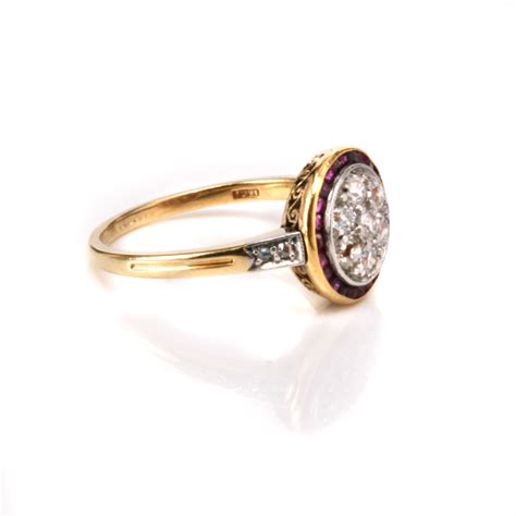 deco ruby ring deco ruby and cluster ring