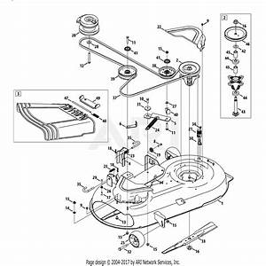 Troy Bilt 17afcacs011 Mustang 42 Xp  2013  Parts Diagram
