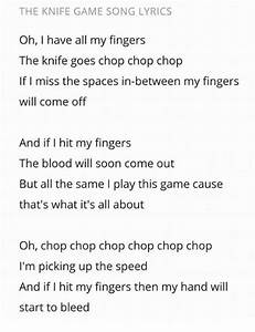 The KNIFE GAME ... Knife Song Quotes