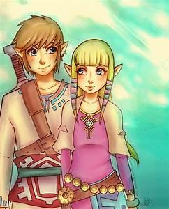 Skyward Sword - Link and Zelda by LooneyLolita on DeviantArt