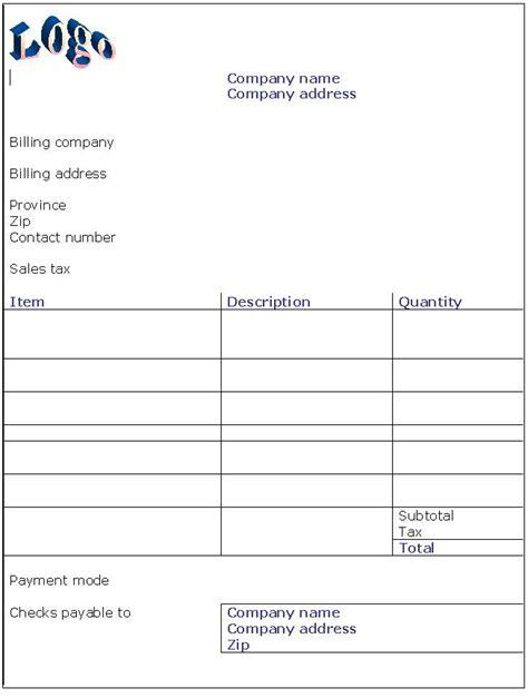 invoice template doc hotel invoice template doc invoice exle