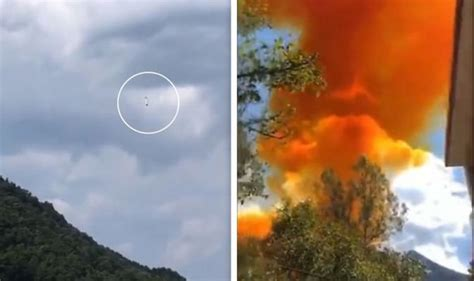 The incident shows how space debris threatens the planet, satellites and spacecraft. China rocket crash: Watch moment Long March 4B booster rocket crashes near school - video ...