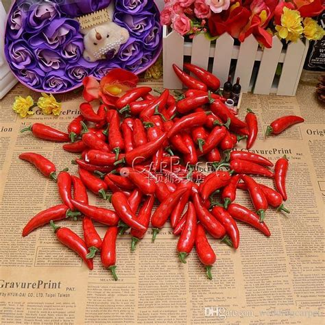 plastic chili pepper decorations wholesale artificial vegetables pepper plastic chili model medium measurement chili model