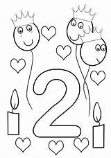 Coloring Birthday 2nd Sheet Pages Girlish sketch template