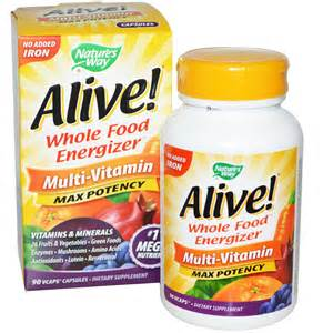 Nature's Way, Alive! Whole Food Energizer Multi-Vitamin, Max Potency ...
