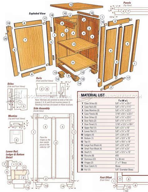 bedside cabinet plans woodarchivist